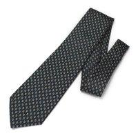全2色・グリーン×オレンジ・小紋柄・ペイズリーの西陣織ネクタイ