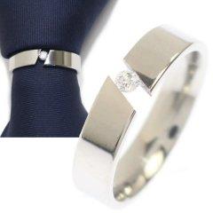 ネクタイリング・シルバー×一粒ストーンのタイリング (スカーフリング)
