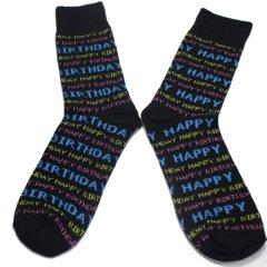靴下・HAPPY BIRTHDAYロゴのメンズソックス