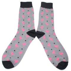 靴下・ピンクフラミンゴのメンズソックス