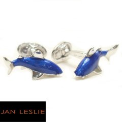 【JanLeslie】強くてcool・鮫のカフス(カフリンクス/カフスボタン)