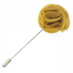 フラワー・お花で華やか・イエローのラペルピン