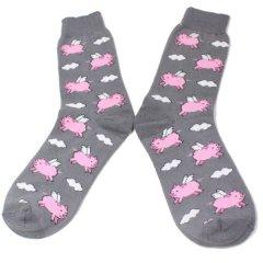 靴下・空飛ぶピンクの豚のメンズソックス