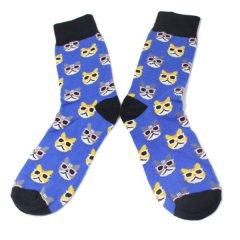 靴下・サングラス猫のメンズソックス