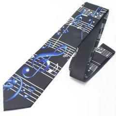 音楽好きさんに・胸元弾む音符のネクタイ