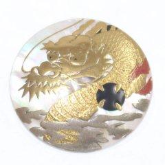【Mt. ARTIGIANO】龍蒔絵・白蝶貝ブローチ(ブローチ)