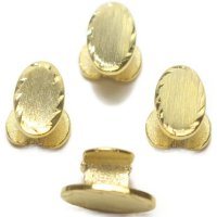 スタッドボタン ゴールド オーバル 4個セット (スタッズボタン)