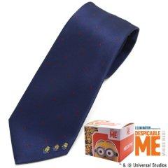 【Minionミニオン】ネイビー×赤ドット・ボブ・ケビン・スチュアートのネクタイ