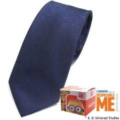 【Minionミニオン】濃ネイビー・ミニオンいっぱいのネクタイ