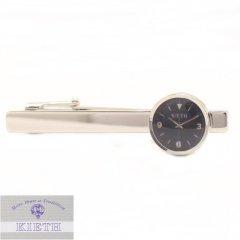【KIETH】日本製・時計・ブラックのタイピン(ネクタイピン)