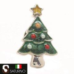 SATURNO サツルノ クリスマスツリー ラペルピン ピンブローチ