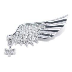 ラペルピン 羽 羽根 翼 ラペルブローチ