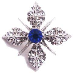 きらきら 青 ブルーストーン 雪の結晶 ラペルピン ブローチ