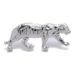 シルバー 虎 トラ とら タイガー ラペルピン ブローチ