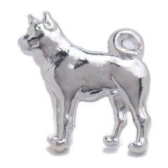 シルバー 柴犬 犬 ラペルピン ブローチ