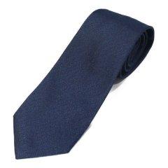 富士桜工房 燻 藍色 日本製 シルクジャカード 和風ネクタイ