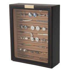 カフスボタン ネクタイピン 指輪 陳列 ケース 240-459 Elementum タイピンケース カフスケース 収納 革