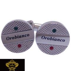 Orobianco オロビアンコ カフス カフスボタン イタリアン スワロフスキー ORT209B ブランド