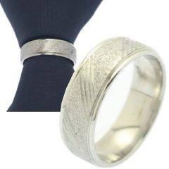 名入れ刻印サービス対象 ネクタイリング シルバーラメ タイリング