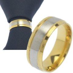 名入れ刻印サービス対象 ネクタイリング シルバー ゴールドサイドライン タイリング