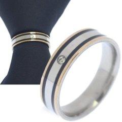 名入れ刻印サービス対象 ネクタイリング 1粒ストーン シルバー ピンクゴールド ブラックライン タイリング