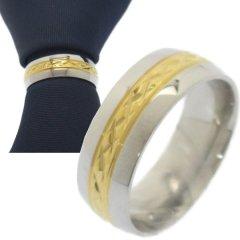 名入れ刻印サービス対象 ネクタイリング ゴールド ダイヤライン タイリング