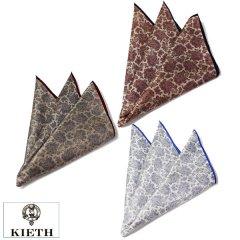 ポケットチーフ ペイズリー 3種 日本製 シルク 100% チーフ KIETH ブランド ポケットスクウェア