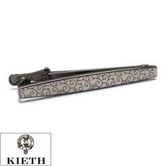 【KIETH】日本製 唐草模様 ガンメタリックのタイピン