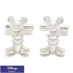 ミッキー 全身 ミッキーマウス シルバー カフス カフリンクス カフスボタン Disney ディズニー
