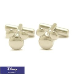 ミッキー マーク ミッキーマウス シルバー カフス カフリンクス カフスボタン Disney ディズニー