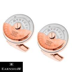 ピンクゴールド&シルバー 時計 EARNSHAW ムーブメント 時計パーツ ラウンド カフス カフリンクス カフスボタンES-003-C3