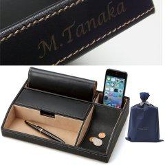 名入 刻印 オーバーナイター Stackable スマホ 財布 ペン タブレット お洒落にすっきり置ける男の小物入れ