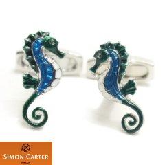 サイモンカーター タツノオトシゴ 竜の落とし子 Seahorse カフス カフリンクス カフスボタン