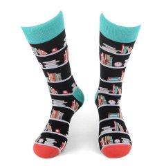 靴下 本好き 読書家の方へ 本がいっぱい 本棚 メンズソックス  メンズ ソックス