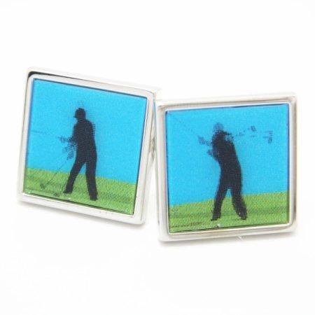 【SoniaSpencer】ゴルファーがスウィングするカフス(カフリンクス/カフスボタン)