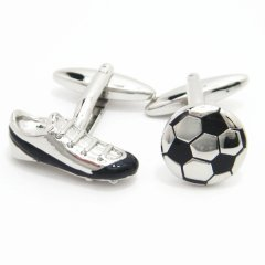 スパイク&ボールのサッカーのカフス(カフリンクス/カフスボタン)