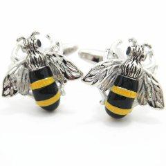ブンブン蜜蜂のカフス(カフリンクス/カフスボタン)