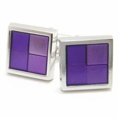 紫グラデーションのスクウェアカフス(カフリンクス/カフスボタン)
