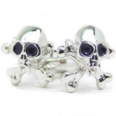 スカル・ドクロの骨々ロックカフス(カフリンクス/カフスボタン)