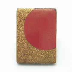 【受注生産品】赤陽・漆塗・タイタック(ピンブローチ)