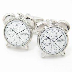 全2色・寝ぼすけさんに♪目覚まし時計のカフス(カフリンクス/カフスボタン)