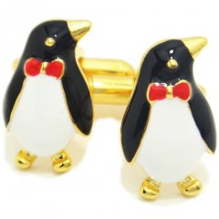 おすましペンギンのカフス(カフリンクス/カフスボタン)