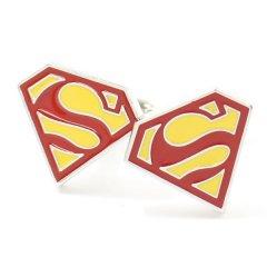 正義の味方!スーパーマン・マークのカフス(カフリンクス/カフスボタン)
