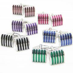 全6色・Beamカラフルラインが効いたカフス(カフリンクス/カフスボタン)