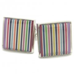 贅沢12色カラフルボーダーのカフス(カフリンクス/カフスボタン)