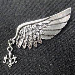 ラペルピン・羽ばたく貴方に翼のラペルブローチ