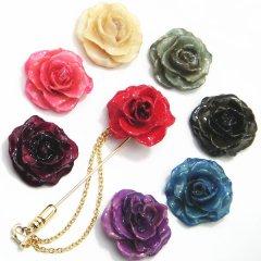 全16種・ラペルピン・本物のバラ使用・リアル・ローズ・ラペルピン
