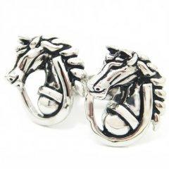凛々しい馬と馬蹄のカフス(カフリンクス/カフスボタン)