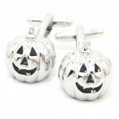 悪戯しちゃうぞ!Halloweenかぼちゃオバケのカフス(カフリンクス/カフスボタン)