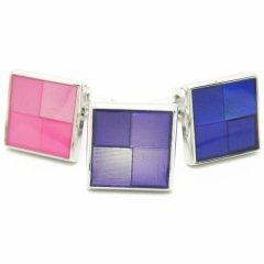 全3色・グラデーションのカラフルスクウェアカフス(カフリンクス/カフスボタン)